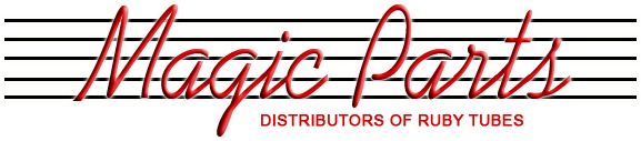 Welcome to the Ruby Tubes - Magic Parts Web Site. Magic Parts is the distributor of Ruby Tubes, vacuum tubes and a full line of amplifier parts, tools, accessories, and publications.